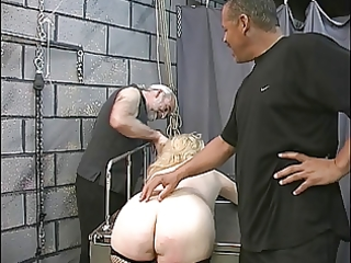 older big beautiful woman blond receives tortured