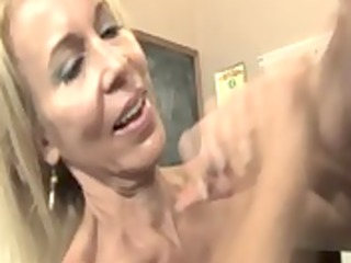 Hot mature teacher wants her best students spunk