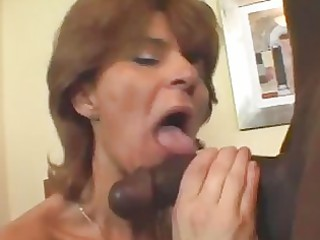 older doxy in fishnets takes black dick