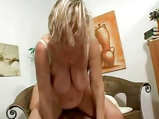 breasty golden-haired older in nylons bonks and