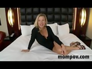 constricted blonde mother i receives drilled hard