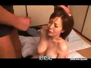oriental wife receives a coarse pounding in her