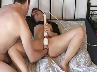 fisting my wifes fur pie whilst she is masturbates