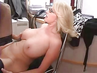 breasty older secretary acquires screwed in office