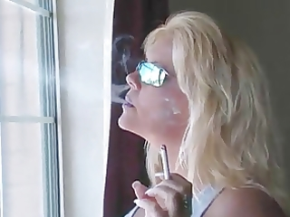 hot blonde milf smokin compilation
