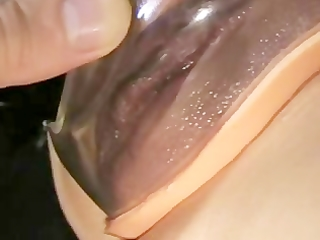 wife plays with her wet fur pie