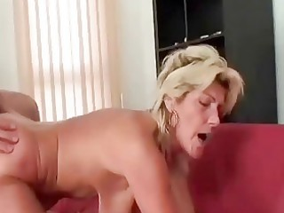 granny swallows a large cock and copulates it is