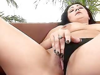 older grace uses a dildo on herself