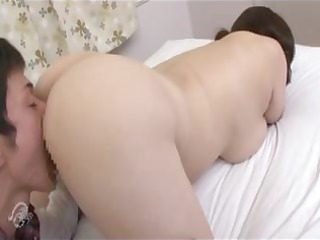 bulky aged asian wench licks his dick and takes