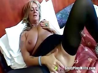 large tit granny toying vagina