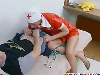 mature russian nurse tempt patient