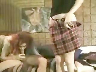 mother and daughter anal duet