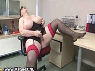 lustful plump older lady fucks
