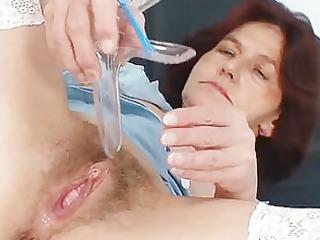 redhead grandma linda curly cunt close ups