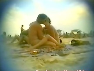 nudist beach wife blowing in public