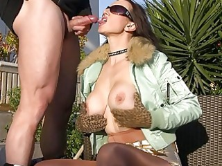 outdoor blowjobs with sexy busty milfs