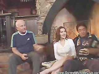 pornstar drilled lascivious wife