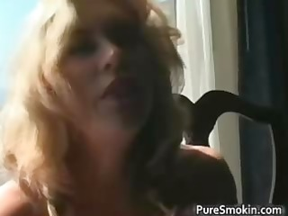 awesome golden-haired d like to fuck smokes